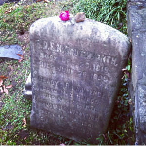 Southworth's grave, Georgetown, Washington, DC. Image: Jill Caddell